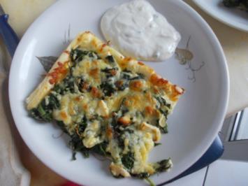 Vegetarisch - Spinat-Feta-Kuchen - Rezept