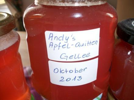 Andy´s  Apfel-Quitten Gelee - Rezept