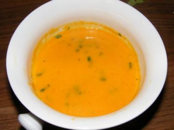 Karotten - Ingwer Suppe alla Thomas - Rezept