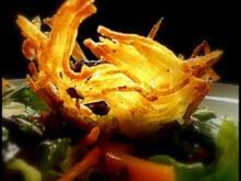 Variationen von Steinpilz-Linsen und Kartoffeln - Rezept