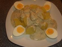 Eierfrikassee in Kräutersoße - Rezept