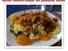 Fisch: Habanero-Kabeljau mit gedämpften Gemüse und Tomatensoße - Rezept