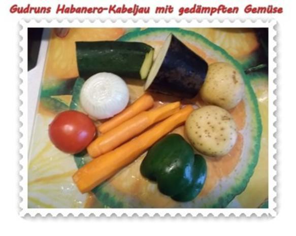 Fisch: Habanero-Kabeljau mit gedämpften Gemüse und Tomatensoße - Rezept - Bild Nr. 2