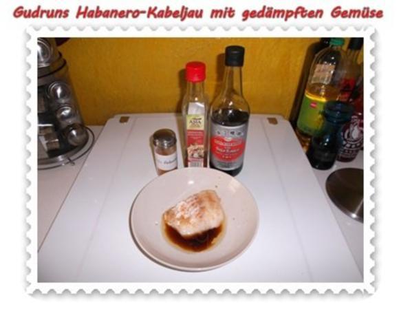 Fisch: Habanero-Kabeljau mit gedämpften Gemüse und Tomatensoße - Rezept - Bild Nr. 4