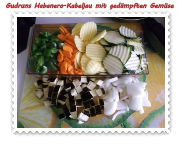 Fisch: Habanero-Kabeljau mit gedämpften Gemüse und Tomatensoße - Rezept - Bild Nr. 5