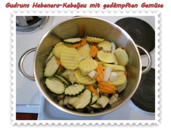 Fisch: Habanero-Kabeljau mit gedämpften Gemüse und Tomatensoße - Rezept - Bild Nr. 6