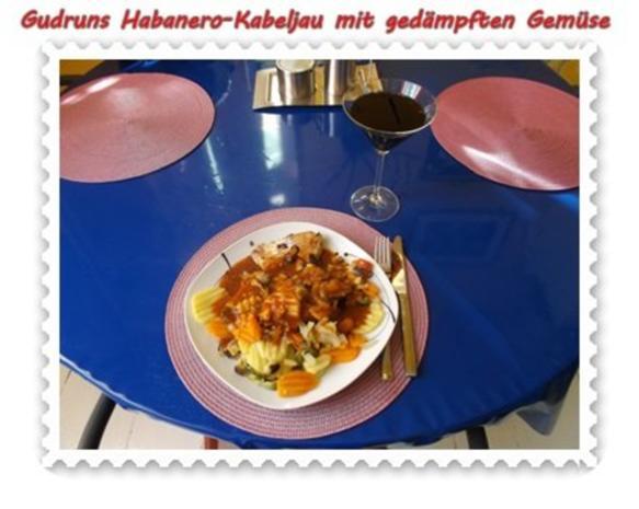 Fisch: Habanero-Kabeljau mit gedämpften Gemüse und Tomatensoße - Rezept - Bild Nr. 13