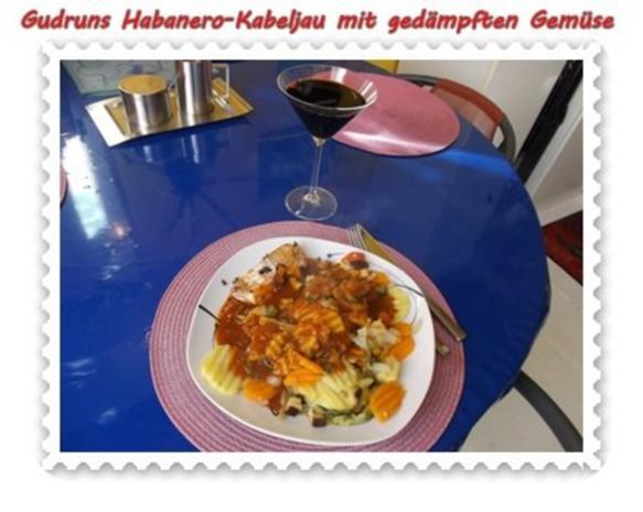 Fisch: Habanero-Kabeljau mit gedämpften Gemüse und Tomatensoße - Rezept - Bild Nr. 15