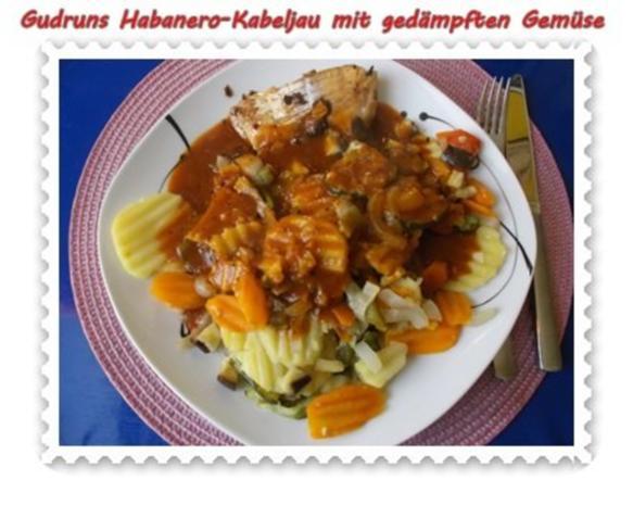 Fisch: Habanero-Kabeljau mit gedämpften Gemüse und Tomatensoße - Rezept - Bild Nr. 16