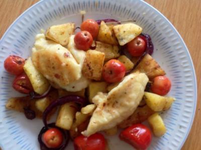 Patisson Kürbis mit Äpfeln und Zwiebeln - Rezept