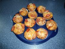 Pikante Tomaten - Parmesan - Muffins - Rezept