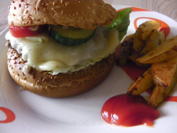 American Jalapeno Cheeseburger with HOT-Wedges and Jalapeno-Burgersauce - Rezept - Bild Nr. 2
