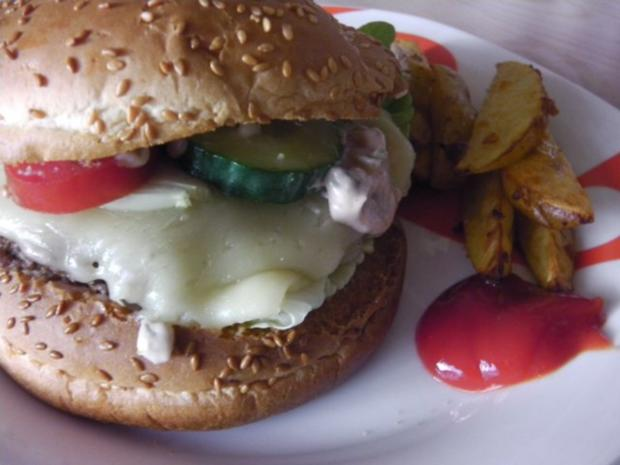 American Jalapeno Cheeseburger with HOT-Wedges and Jalapeno-Burgersauce - Rezept - Bild Nr. 8