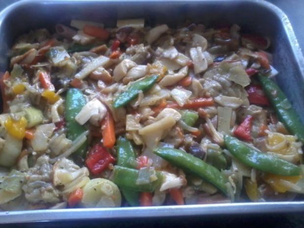 Zander-Nudelauflauf mit Gemüse und Steinpilzen - Rezept - Bild Nr. 8