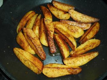 Kartoffelspalten mit Majoran - Rezept