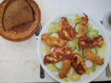 Blattsalate mit zweierlei Nuggets - Rezept