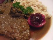 Soßfleisch mit ungarischen Nudeln (Tarhonya) aus dem Kelomat (Druckkochtopf) - Rezept