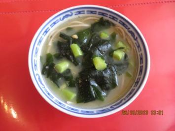 Rezept: Suppe: Misosuppe mit Sobanudeln
