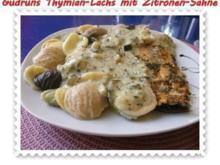 Fisch: Thymian-Lachs mit Sahnesoße - Rezept