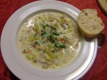 Käse-Lauchcreme-Suppe à la Heiko 2 - Rezept
