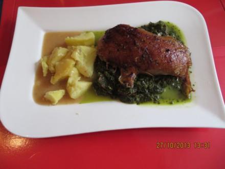 Kochen: Ente mit Grünkohl - Rezept