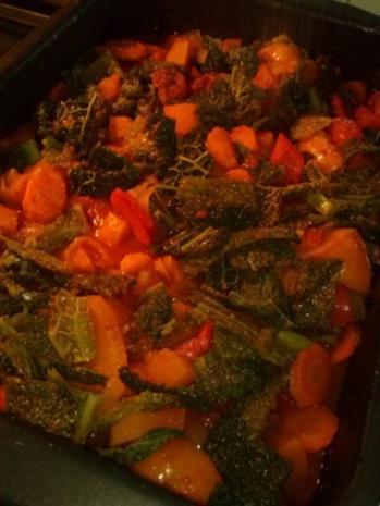 Buntes Herbstgemüse im Ofen geschmort - Rezept