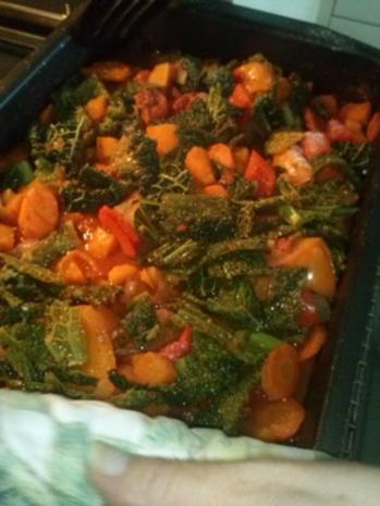 Buntes Herbstgemüse im Ofen geschmort - Rezept - Bild Nr. 2