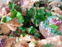 Süßkartoffelsalat mit Äpfeln und Yoghurt - Rezept