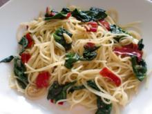 Spinat -Spaghettini - Rezept