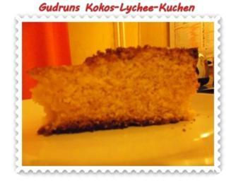 Kuchen: Kokos-Lychee-Kuchen - Rezept