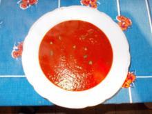 Frische Tomatensuppe - Rezept