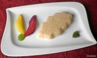 Mousse mit Ahornsirup an Rotwein - und Safran - Birne ... - Rezept