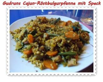 Gemüse: Cajun-Röstbulgurpfanne mit Gemüse und Speck - Rezept