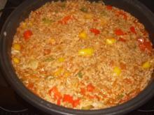 Paprika-Reis-Hack Pfanne - Rezept