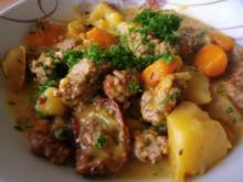 Kürbis - Apfel - Hackfleischsuppe - Rezept