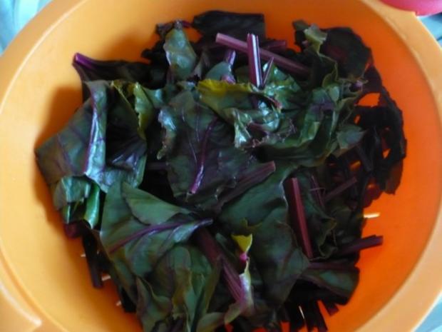 Rote Bete - Blätter Salat - Rezept - Bild Nr. 5