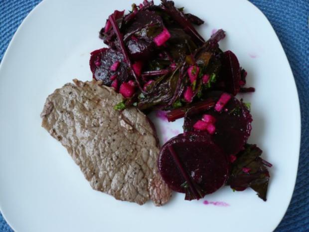 Rote Bete - Blätter Salat - Rezept - Bild Nr. 11