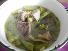 Suppe & Eintopf : Grüne Bohnensuppe mit Suppenfleisch - Rezept