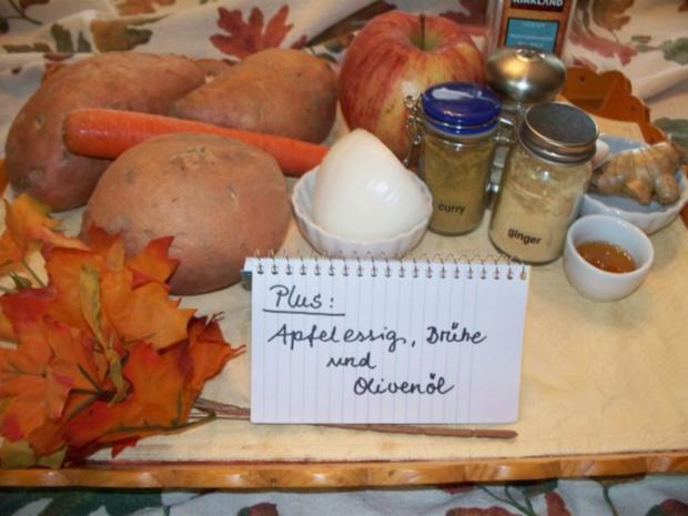 """""""Veräppelte"""" Süßkartoffelsuppe - Rezept - Bild Nr. 2"""