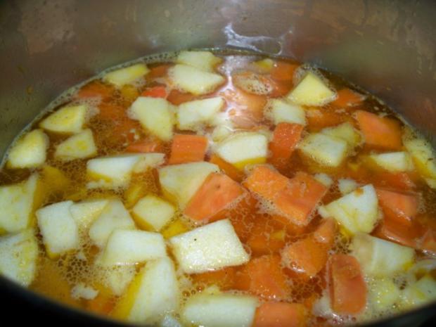 """""""Veräppelte"""" Süßkartoffelsuppe - Rezept - Bild Nr. 3"""
