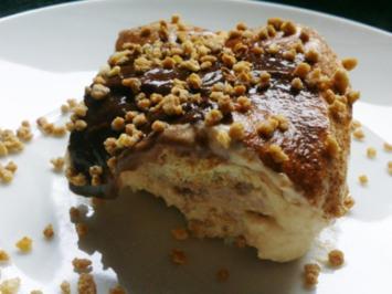 Sahne-Karamell Dessert mit Krokant - Rezept