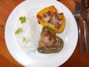 Gefüllte Paprika mit Reis - Rezept