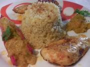 Jerk spiced chicken - karibisches Huhn mit Bulgur und Chutney - Rezept