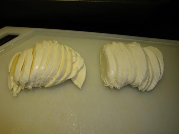 Basilikumhähnchen mit Mozzarella überbacken - Rezept - Bild Nr. 6