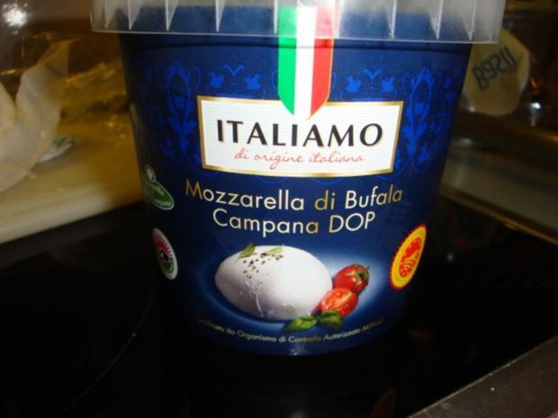 Basilikumhähnchen mit Mozzarella überbacken - Rezept - Bild Nr. 5