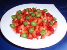 Frühstücksmüsli mit Erdbeeren und Mini-Kiwis - Rezept