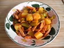 Pfannengerichte : Bunte Wurstpfanne - Rezept