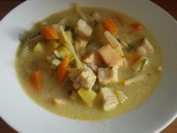 Suppe - Scharfe Fischsuppe mit Kokos - Rezept