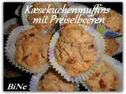 BiNe` S KÆSEKUCHENMUFFINS MIT PREISELBEEREN - Rezept - Bild Nr. 2