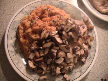 6 risotto mit champignons und h hnchen rezepte. Black Bedroom Furniture Sets. Home Design Ideas